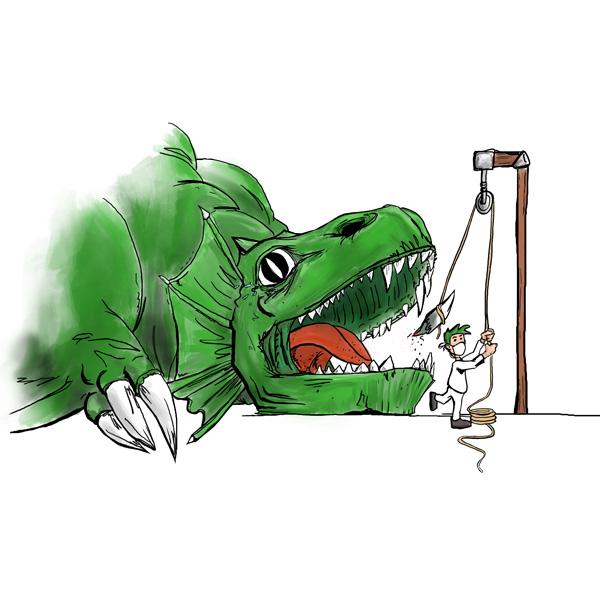 Zeichnung zu Oralchirurgie und Implantologie