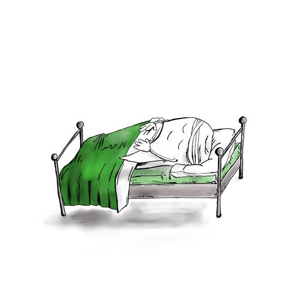 Zeichnung zu Behandlung in Narkose